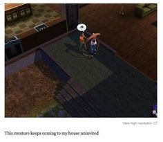 Whatever the hell this is. | 29 Times The Sims Went Horribly, Hilariously Wrong