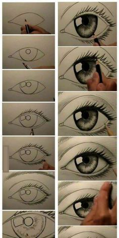 Step by step eye tutorial eyetutorial tutorial eye drawing otherpw – Artofit Realistic Eye Drawing, 3d Art Drawing, Art Drawings Sketches Simple, Pencil Art Drawings, Drawing Lessons, Cool Drawings, Painting & Drawing, Eye Drawing Tutorials, Art Tutorials