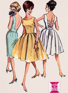 1960s Vintage Sewing Pattern McCalls 7145 Womens by sandritocat