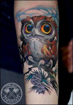 Tatuaggi coi gufi: foto, idee e significato - Tattoomuse.it
