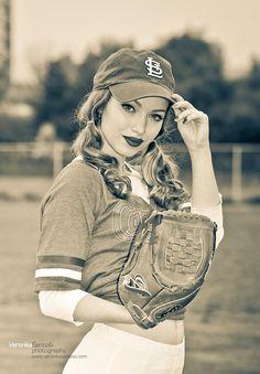 Sweet Vintage Baseball Girl