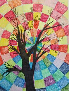 Leese Art Docent Impressionist Autumn Tree Project Art Ideas