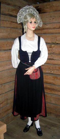 Mänsälä, Finland Folk Costume, Costumes, 7 Continents, Baltic Sea, Scandinavian, Jewellery, Embroidery, How To Wear, Crafts