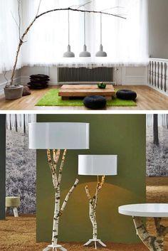 Ideas lámpara árbol/ Tree lamp ideas #recycle design