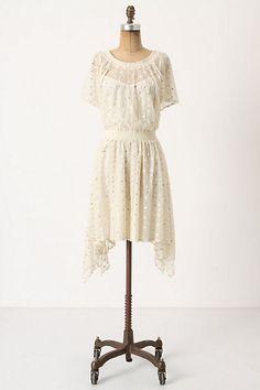 Dot-Gleam Dress #anthropologie