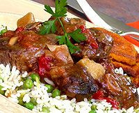 Lovely recipe for slow cooked Lamb and Tomato Casserole. You can make this dish in advance, because it tastes even better the next day! South African Dishes, South African Recipes, Casserole Dishes, Casserole Recipes, Slow Cooked Lamb, Roasted Onions, Lamb Dishes, Lamb Recipes, Great Recipes