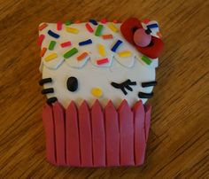 Sweet Kitty Cupcake Pendant by AmandaVenuti on Etsy, $8.00