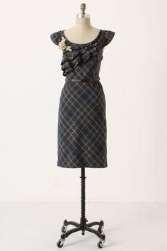 Ruffled Plaid Dress - anthropologie.com