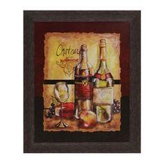 Wine Table I Framed Art Print