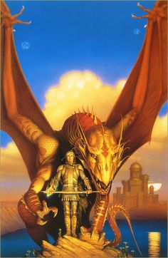 - Michael Whelan  Skybowl by Melanie Rawn Paperback book cover. I'd love this art for my books. #Dragon