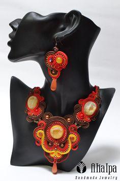 Red Sky Soutache Jewelry