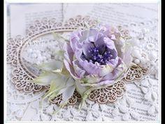 Shabby Chic Silk Foam Flower - YouTube