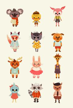 Illustration portfolio of artist Anoosha Syed. Specialises in character design, visual development and illustration. Cute Animal Illustration, Children's Book Illustration, Character Illustration, Cartoon Illustrations, Animated Icons, Cute Animal Videos, Robin, Animation, Animal Projects