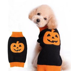 Us 557 28 Off Halloween Dog Sweater Comfortable Pet Clothes Festival Dog Vest Knitwear Dog Clothes Winter Ropa Perros Chaleco Invierno In Dog Looks Halloween, Dog Halloween Costumes, Pet Costumes, Halloween Clothes, Halloween Christmas, Halloween Fashion, Costume Ideas, Pet Puppy, Pet Dogs