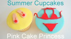 Summer Beach Cupcakes How to by Pink Cake Princess