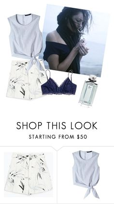 """""""The Sweet Blues"""" by patrinachua ❤ liked on Polyvore featuring Zara, TIBI, Madewell, women's clothing, women, female, woman, misses and juniors"""