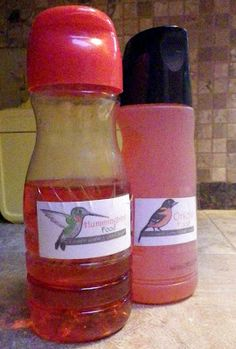 How to make hummingbird & oriole food (EASY!), with free printable labels!