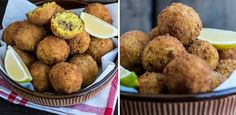 Serve with some lemon wedges. Risotto Balls, Rice Bread, Easy Weekday Meals, Lemon Wedge, Piece Of Bread, Budget Meals, Cheddar Cheese, Starters, Fries