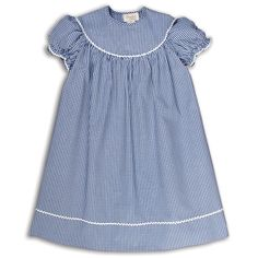 Royal Blue Gingham Dress with RicRac 15F AYR 5661D RBL