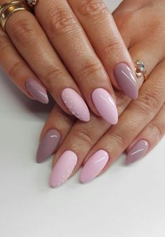 The most beautiful nails - Best Nail Art Classy Nails, Stylish Nails, Trendy Nails, Cute Nails, Pink Ombre Nails, Pastel Nails, Acrylic Nails, Feather Nails, Nagel Gel