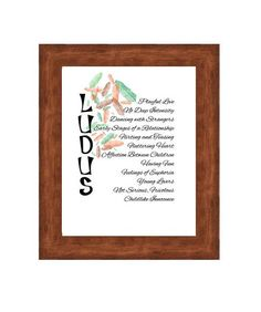Playful Love - Wall Art - Ludus Wall Art - Happy Art - Typography.