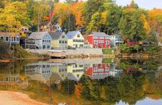Alton Bay, N.H., best place to enjoy the Autumn leaves New Hampshire's Lakes Region!
