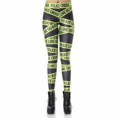 Do Not Cross Police Line Women's Leggings Yoga Workout Capri Pants
