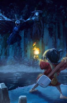 Kubo VS his evil Aunts, the Sisters from Kubo and the Two Strings