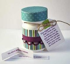 Cute.... I've done something similar for valentines day using prescription bottles