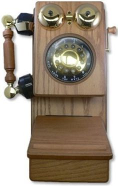 Corded Telephones: Classic Country Corded Wood Kitchen Wall Phone Telephone Wooden Oak Color New -> BUY IT NOW ONLY: $53.95 on eBay!