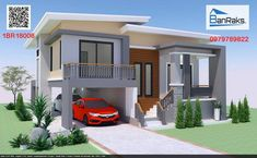 Have you ever wondered how a house looks like? Have you seen one posted on our website lately? Here is another one we are featuring today. Whatever the reason why you prefer a [. Loft House Design, Bungalow Haus Design, 2 Storey House Design, Modern Bungalow House, Bungalow House Plans, One Bedroom House Plans, Guest House Plans, Dream House Plans, Modern Exterior House Designs