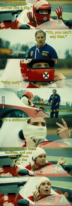 Funny pictures about Niki Lauda Is A True Ferrari Fan. Oh, and cool pics about Niki Lauda Is A True Ferrari Fan. Also, Niki Lauda Is A True Ferrari Fan photos. Stupid Pictures, Best Funny Pictures, Funny Photos, Funniest Photos, Rush Movie, I Movie, Rush 2013, Funny Memes, Jokes