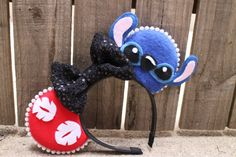 Hey, I found this really awesome Etsy listing at https://www.etsy.com/listing/239464664/lilo-stitch-inspired-mouse-ear-headband