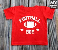 Football Boy Infant Baby Jersey Handmade Football Jersey Toddler Tee Football Game Shirt All Colors 6M-24M