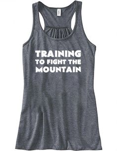 Training To Fight The Mountain Tank Top - Crossfit Tank Top - Workout Shirt