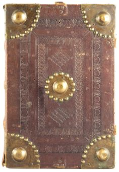 Venetian binding, blind-tooled goatskin, fifteenth century.