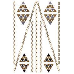 Silver And Gold Metallic Jewellery Tattoo - Design 28 Flash Tattoos, Jewelry Tattoo, Temporary Tattoo, Tattoo Art, Metal Jewelry, Contents, Tattoo Designs, Metallic, Jewellery