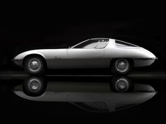 Unveiled at Geneva Motor Show 1963, Chevrolet Testudo styled by Bertone is one of the seminal works of this Italian design car studio.  Source: http://okoloweb.cz/projects/testudo