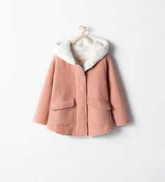 Image 1 of COAT WITH FLEECY HOOD from Zara