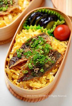 Japanese Bento with Grilled Aji Mackerel