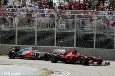 F1 : Grand Prix du Canada 2012 : Fernando Alonso (ESP) Ferrari F2012 leads Lewis Hamilton (GBR) McLaren MP4/27.