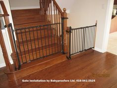 Baby Gate Option For Mounting With No Holes In The Newell Post. Great  Option If