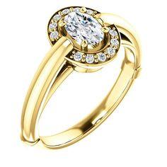0.50 Ct Oval Diamond Engagement Ring 14k Yellow Gold – Goldia.com