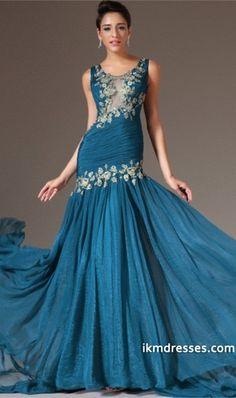 015 Straps Full Pleated Bodice Sheath/Column Prom Dress Embellished With Applique Court Train Chiffon http://www.ikmdresses.com/2014-Straps-Full-Pleated-Bodice-Sheath-Column-Prom-Dress-Embellished-With-Applique-Court-Train-Chiffon-p84989