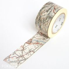 MT Washi Tape - Map - NEW 25mm X 10M Craft/Masking in Crafts, Cardmaking & Scrapbooking, Glue & Tape | eBay