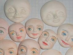 Елочные игрушки. Лепка лица.   Ярмарка Мастеров - ручная работа, handmade