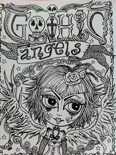 Gothic Angels ColLoRinG Book for You to Color by ChubbyMermaid, $12.00