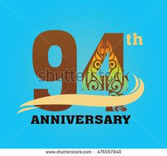 Anniversary logo with javanese shadow puppet pattern 94th