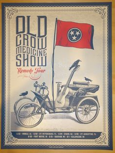 2014 Old Crow Medicine Show- Remedy Tour Poster by Status