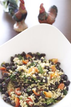 Black Bean Quinoa Salad- made this today and it is so good! Even my 8 month old loved it